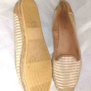 Sperry Top Siders Gold Striped Size 10m